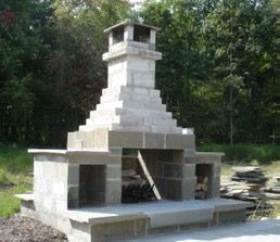Image Result For How To Build An Outdoor Fireplace With Cinder Blocks Lakehouse Pinterest