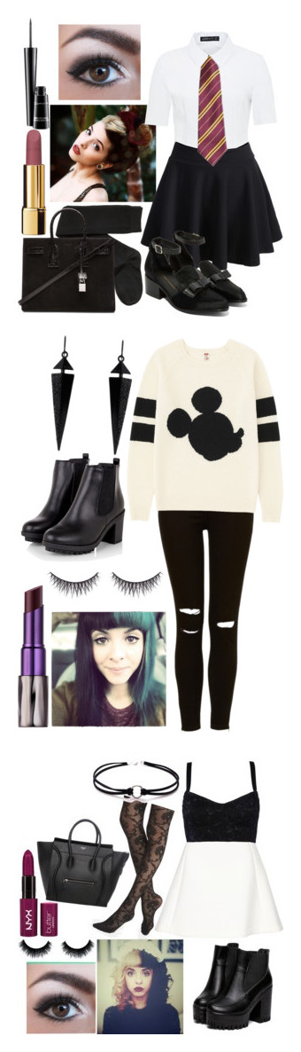 """""""Elizabeth Green"""" by some-harry-potter-freak on Polyvore featuring Hallhuber, H&M, Intentionally Blank, Yves Saint Laurent, Chanel, MAC Cosmetics, Uniqlo, Oasis, Urban Decay and shu uemura"""