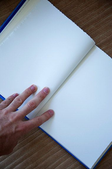 blue vintage handmade journal // hard bound journal by ericmbaral, $23.00