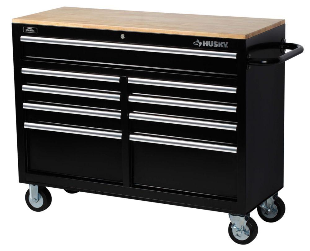 Home Tool Box Setup: 46 Inch W 9-Drawer Mobile Workbench