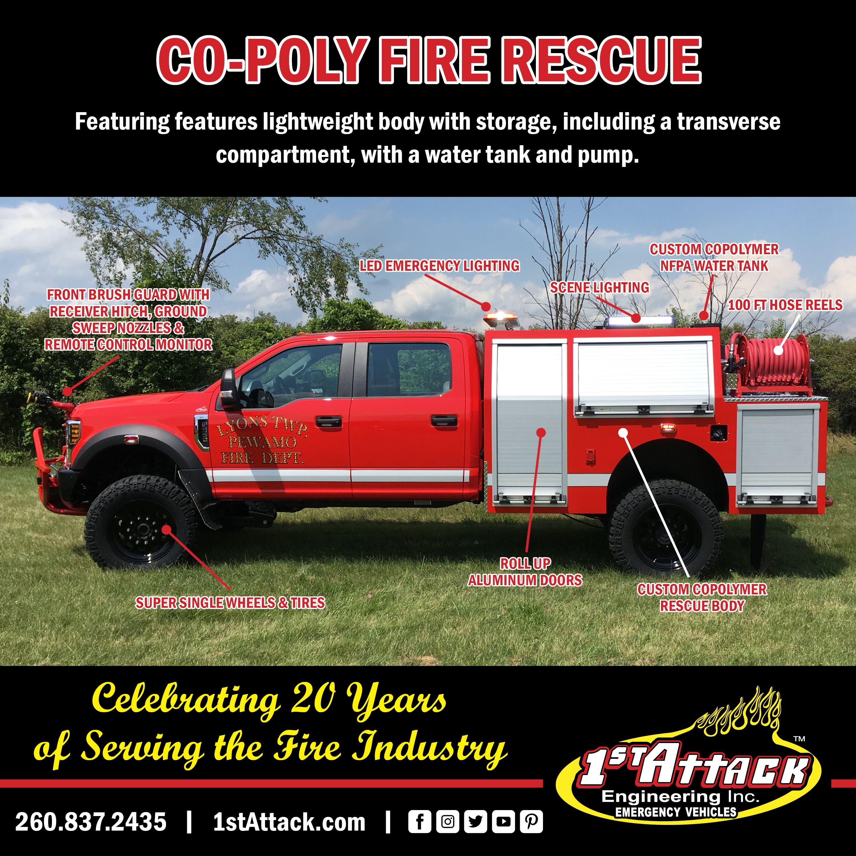 Co Poly Off Road Fire Rescue Truck Fire Trucks Fire Rescue Trucks