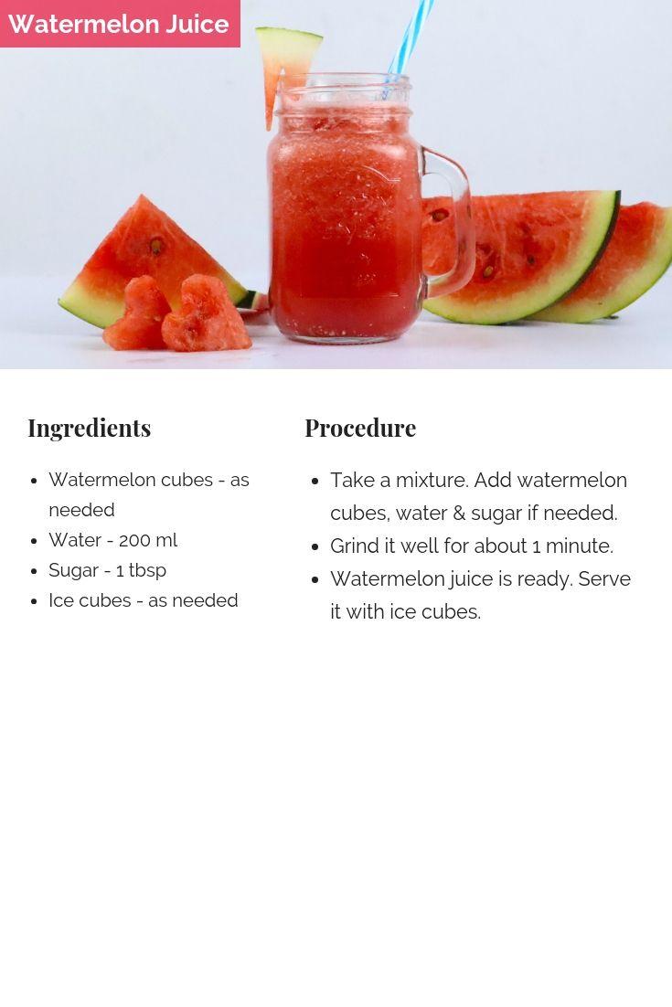 Watermelon Juice Tastedrecipes Recipe Healthy Drinks Recipes Watermelon Juice Refreshing Drinks Recipes