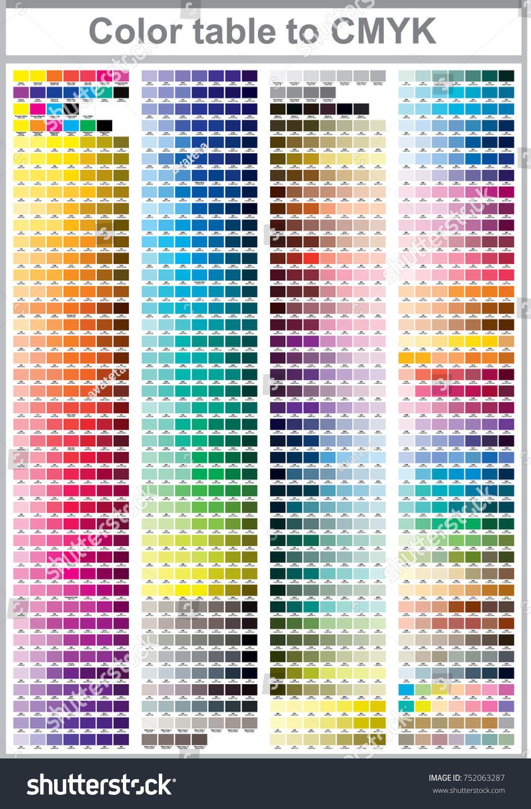 Color print test page illustration cmyk colors for print vector color palette pageillustrationtestcolor