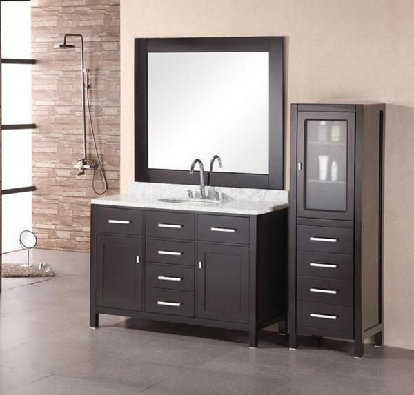 This London Bathroom Vanity Features A Single Sink And Beautiful