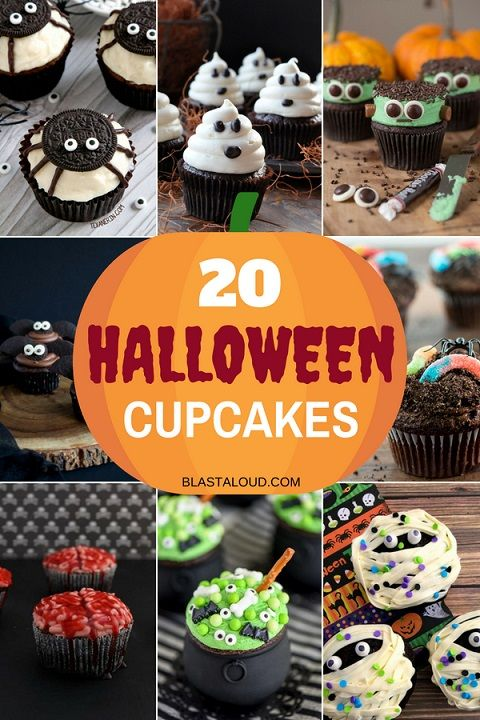 20 Easy Halloween Cupcake Decorating Ideas For Kids And Adults Alike #halloweencupcakes
