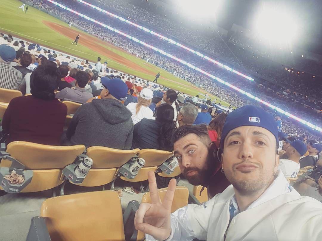 THINK BLUE: Una delle esperienze più bella della mia vita !! LET'S GO DODGERS.  #dodgers #losangeles #mlb #baseball by matthmatt