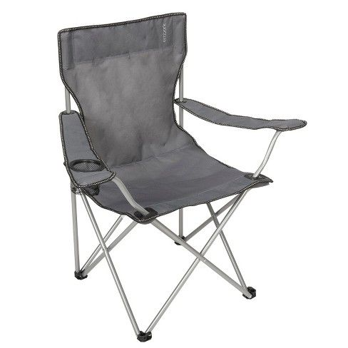 Admirable Basic Arm Chair With Carrying Case Gray Embark Hm Andrewgaddart Wooden Chair Designs For Living Room Andrewgaddartcom