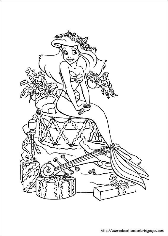 Little Mermaid Coloring Pages free For Kids   Abigail's ...