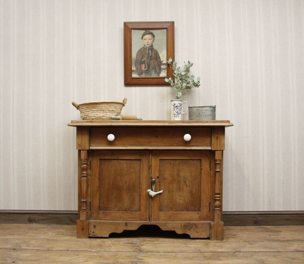 Antique Pine Sideboard, Victorian Kitchen Sideboard, country style ...