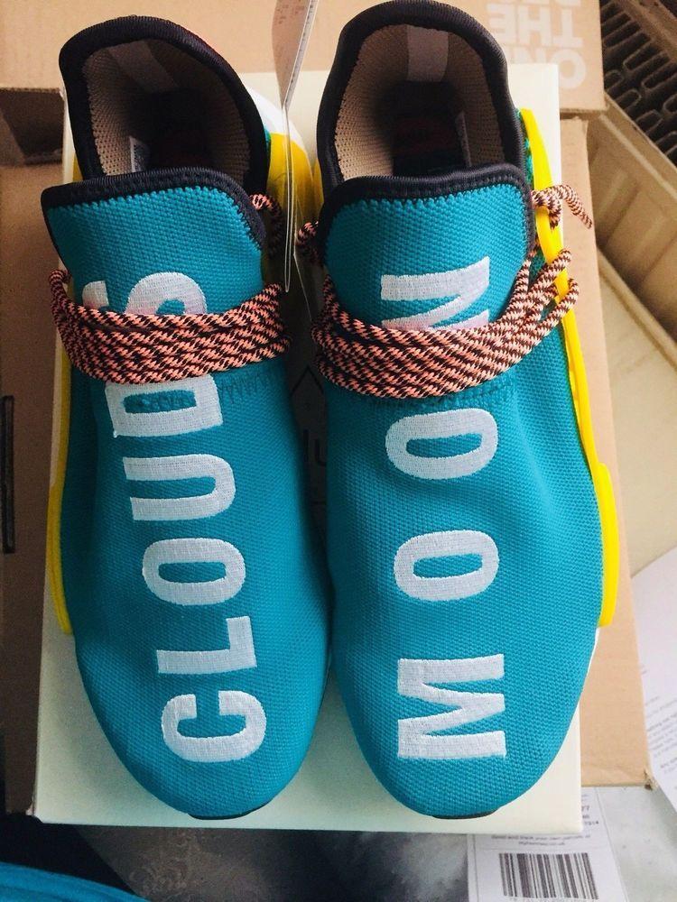 91b281de0c64 Pharrell Williams X Adidas Nmd Hu Trail Sun Glow UK9 US 9.5
