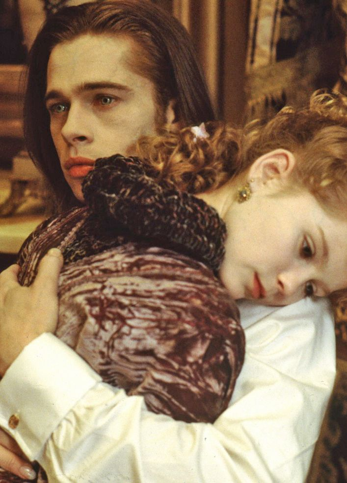 Interview With The Vampire The Vampire Chronicles 1994 Brad Pitt And Young Kirsten Dunst Interview With The Vampire Brad Pitt Kirsten Dunst