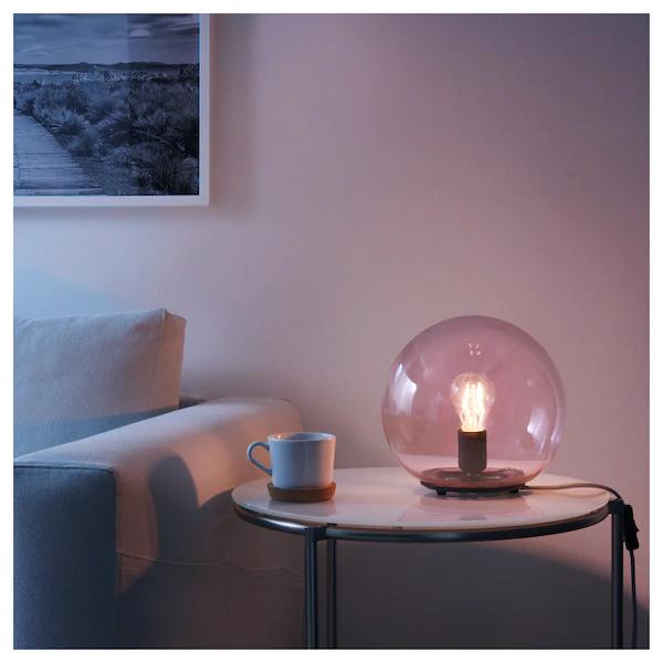 FADO Lampe de table rose IKEA | Grey table lamps, Lamps