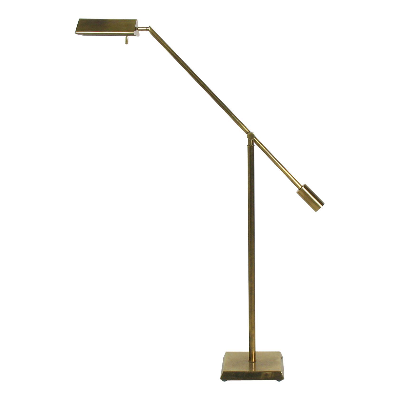 Adjustable Brass Floor Reading Lamp By Chapman 1600