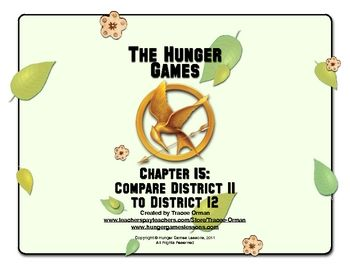 Hunger games chapter 15 comparison activity hunger games suzanne 15 of the hunger games by suzanne collins students ccuart Choice Image