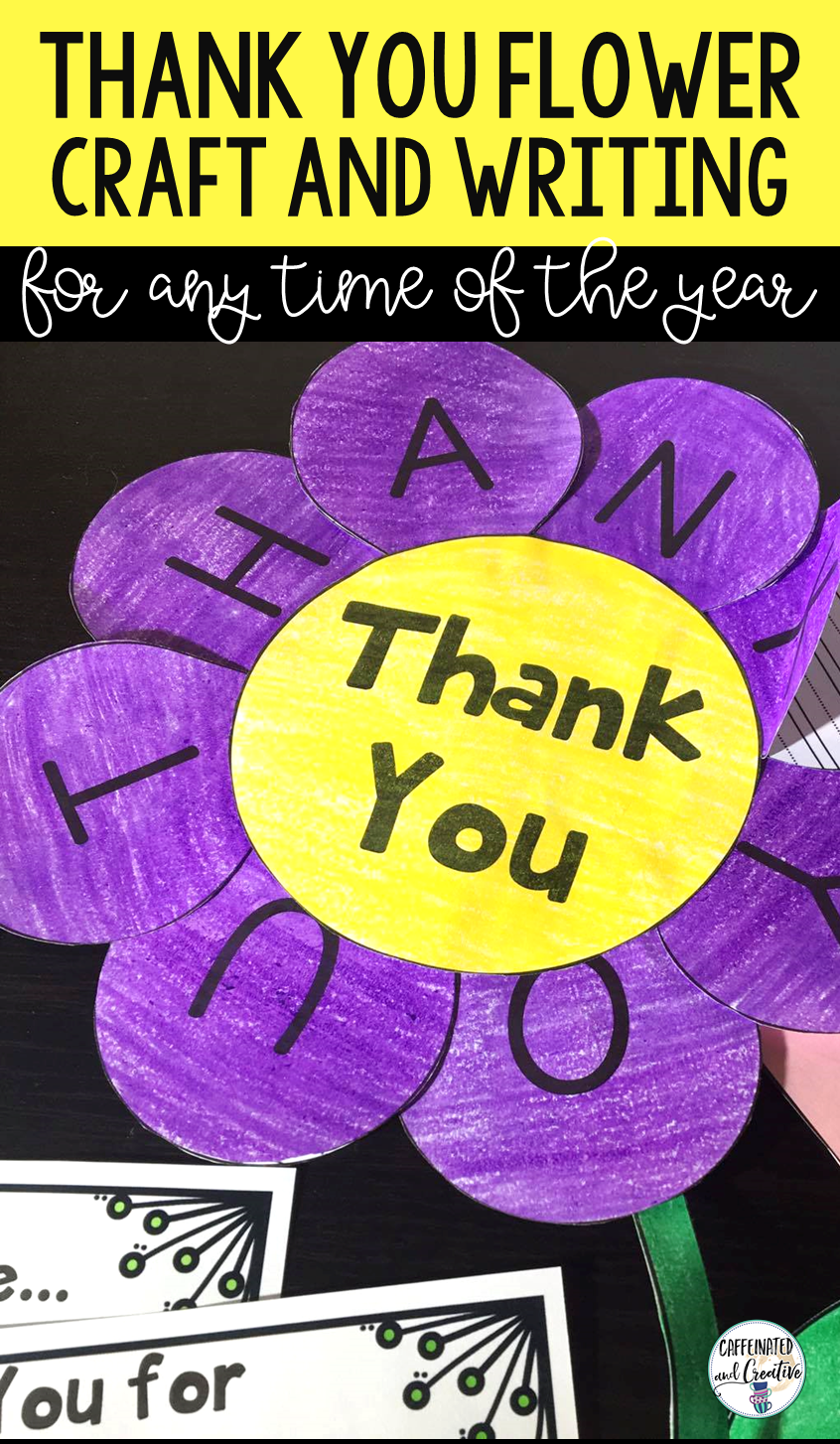 Thank You Flower Writing Craft  Writing Ideas Teacher And Students