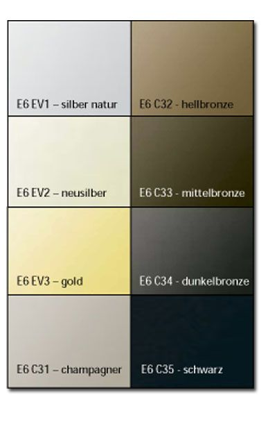 Bildergebnis F 252 R Alu Eloxal Farben Architektur