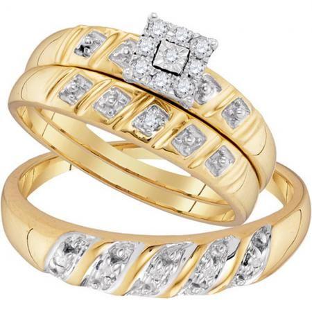 0 13 Carat Ctw 10k Yellow Gold Round White Diamond Men Women S