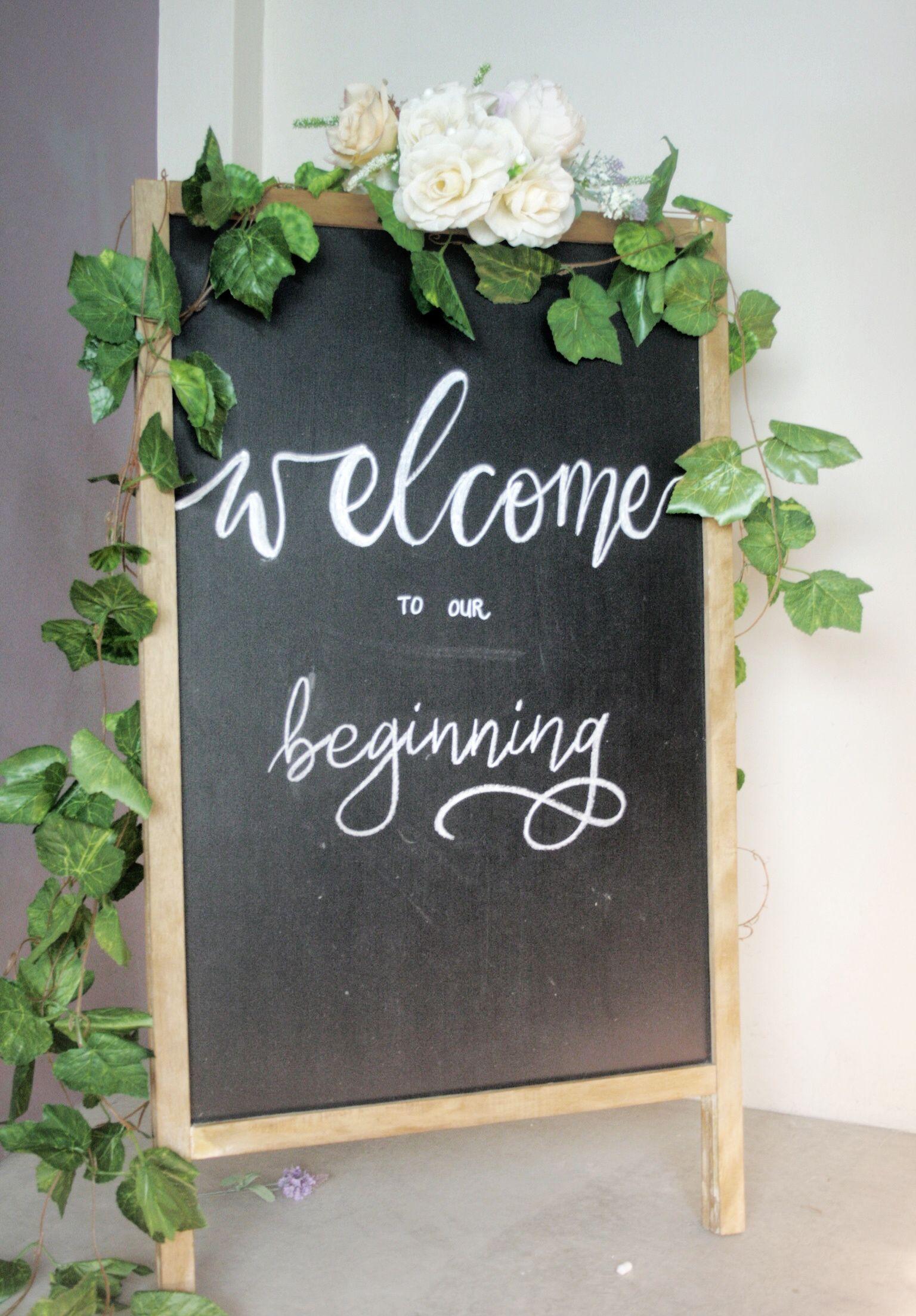 Chalkboard Lettering For Wedding Welcome Board