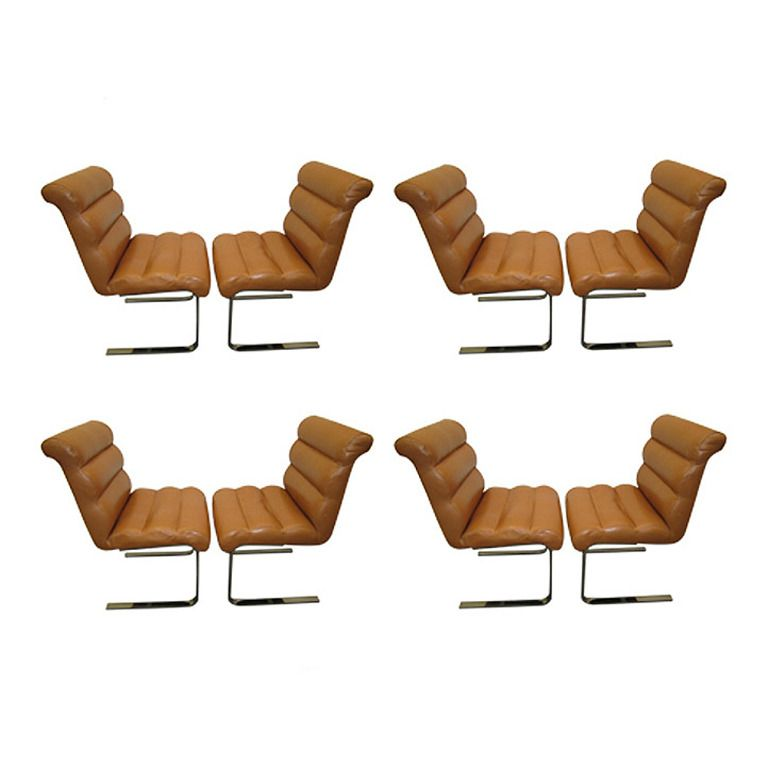 dining tables and chairs for sale in laguna. set of eight mariani laguna leather and chrome pace collection dining chairs | from a unique tables for sale in