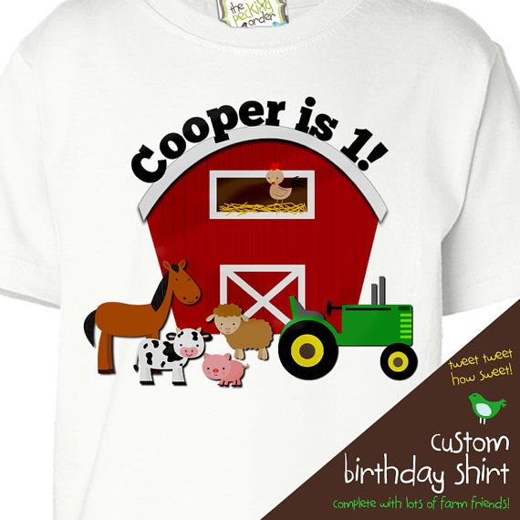 Personalized Would Be Great For Jacks 2nd Bday Party Farm Birthday Shirt