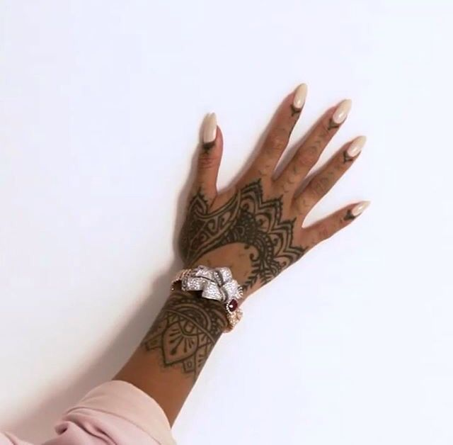 Rihanna Hand Tattoo More