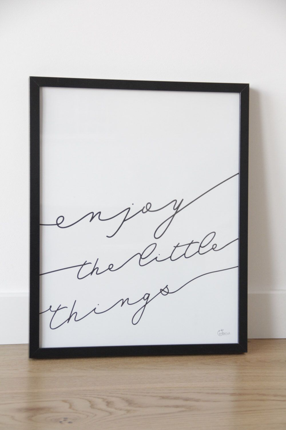 enjoy the little things printable downloadable poster scandinavian style typoposter. Black Bedroom Furniture Sets. Home Design Ideas