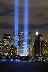 Twin tower memorial lights
