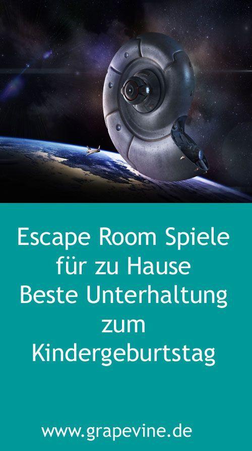 Escape Room Spiele: Space Escape Escape Rooms oder Exit Spiele sind ein großer Trend für aufregende Events sowohl für Kinder als auch für Erwachsene. #gamingrooms