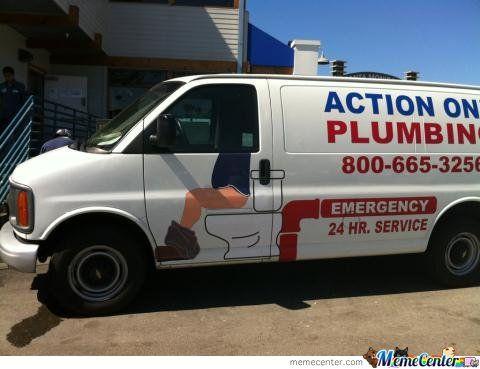 Funny plumbing truck