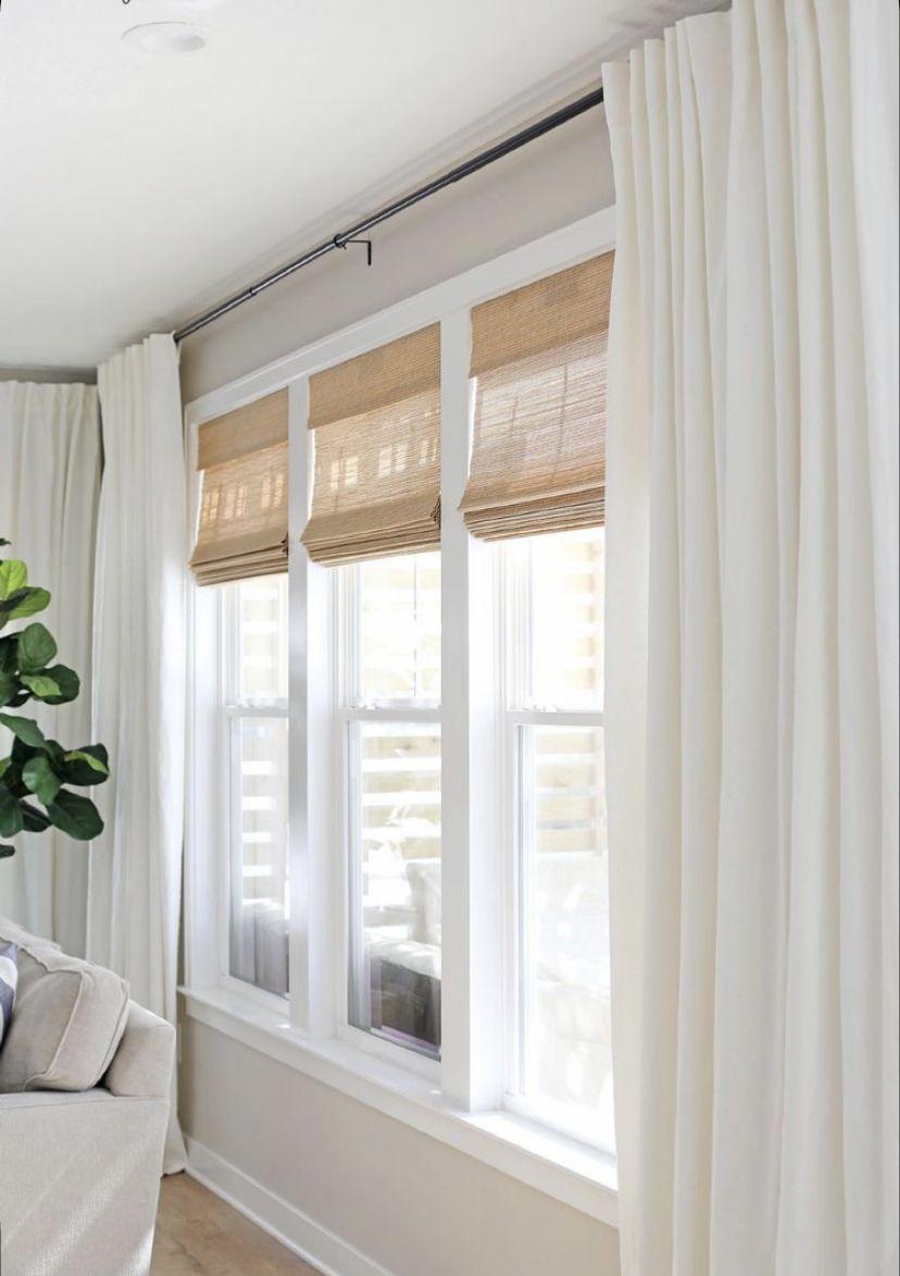 Living Room Windows Window Treatments, Casual Dining Room Window Treatments 2021
