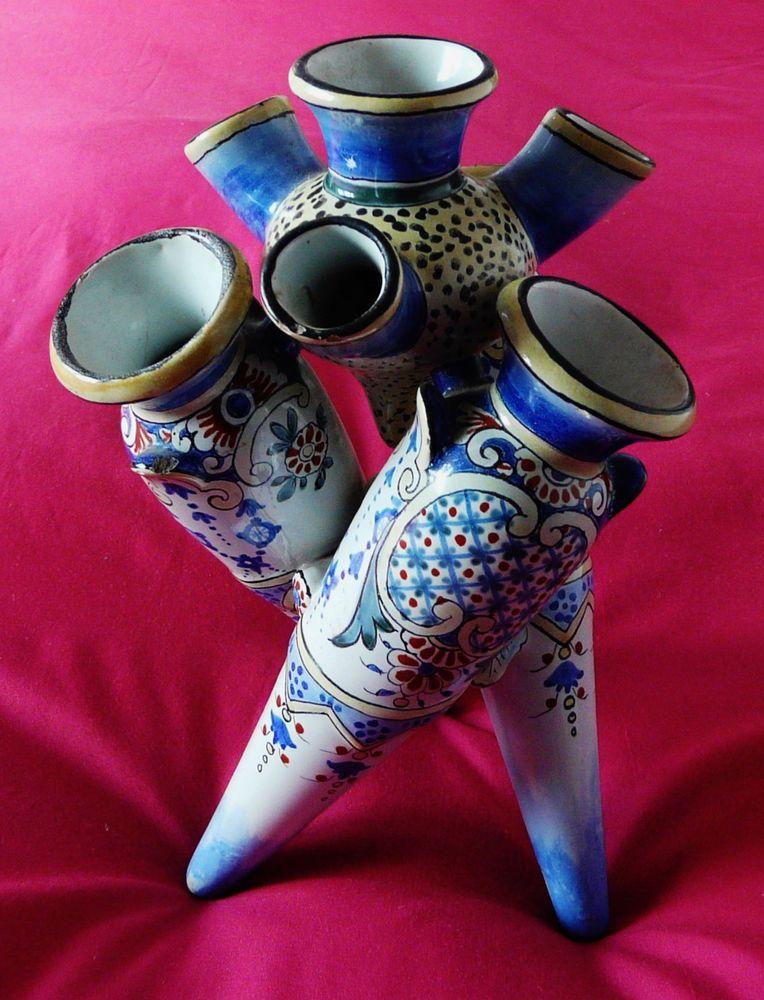 Details About Tulip Vase Antique Flower Holder Finger Fan