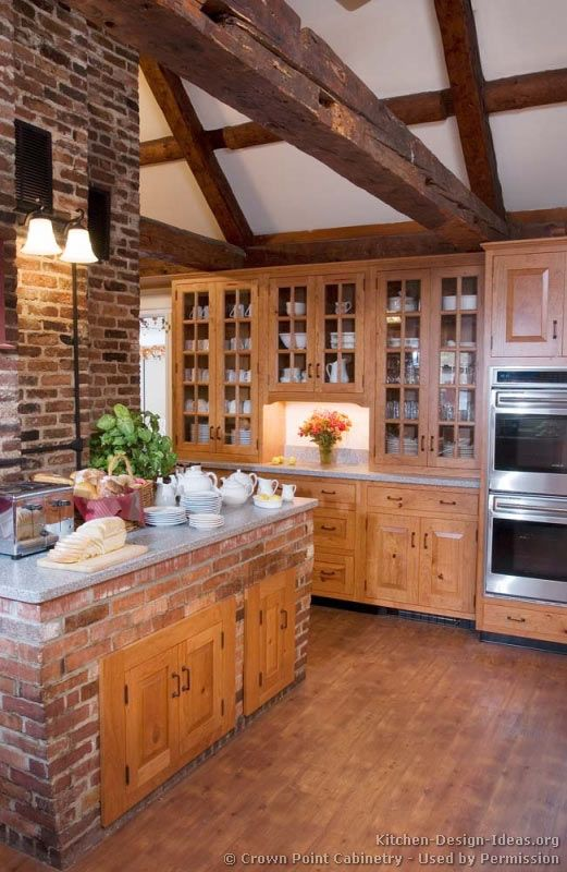 Rustic kitchen design crown point cabinetry crown point for Kitchen units made of bricks