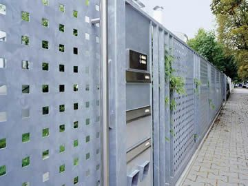 Square Hole Perforated Sheet To Secure Safety And Ventilation Galvanized Metal Wall Perforated Metal Building Exterior