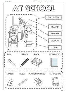 Atividades De Ingles School Mais Com Imagens Aulas De Ingles