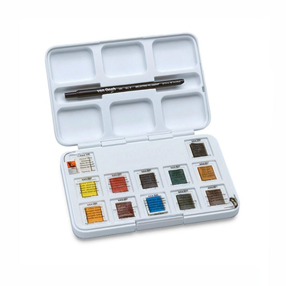 Amazon Com Van Gogh 12 Pan Watercolor Pocket Box Materiales De