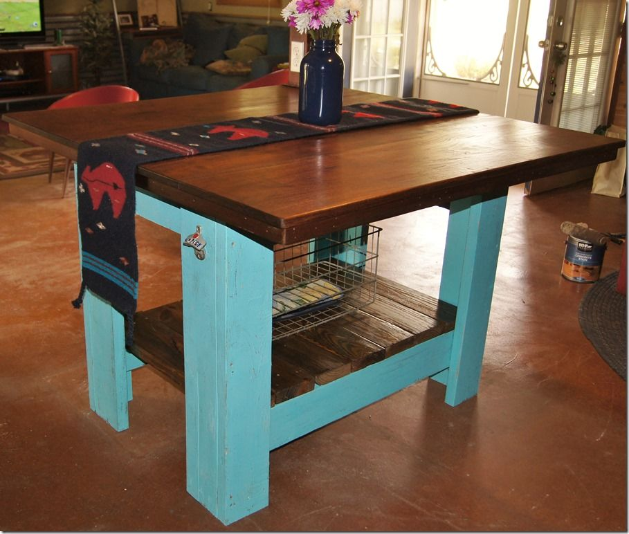 Kitchen Island Out Of Pallets kitchen island born using pallets and rough cut walnut | decks