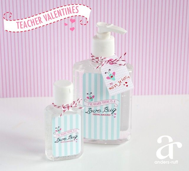 Here's a great idea for a simple Valentine's Day teacher gift. Thanks to www.andersruff.com