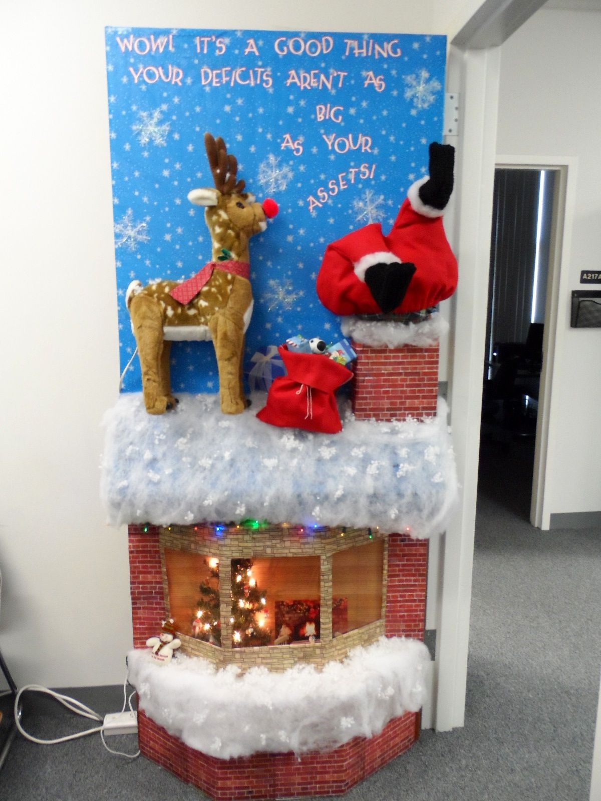 Door decorating contest for Christmas. | Office door ...