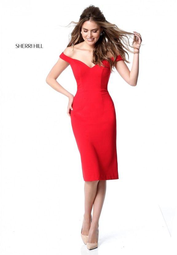 adfefc6edb Red Sherri Hill S51338 Short Fitted Homecoming Dress