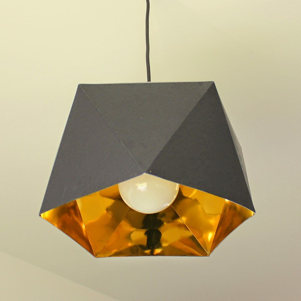 Diy suspension geometrique id es pour la maison for Suspension luminaire papier