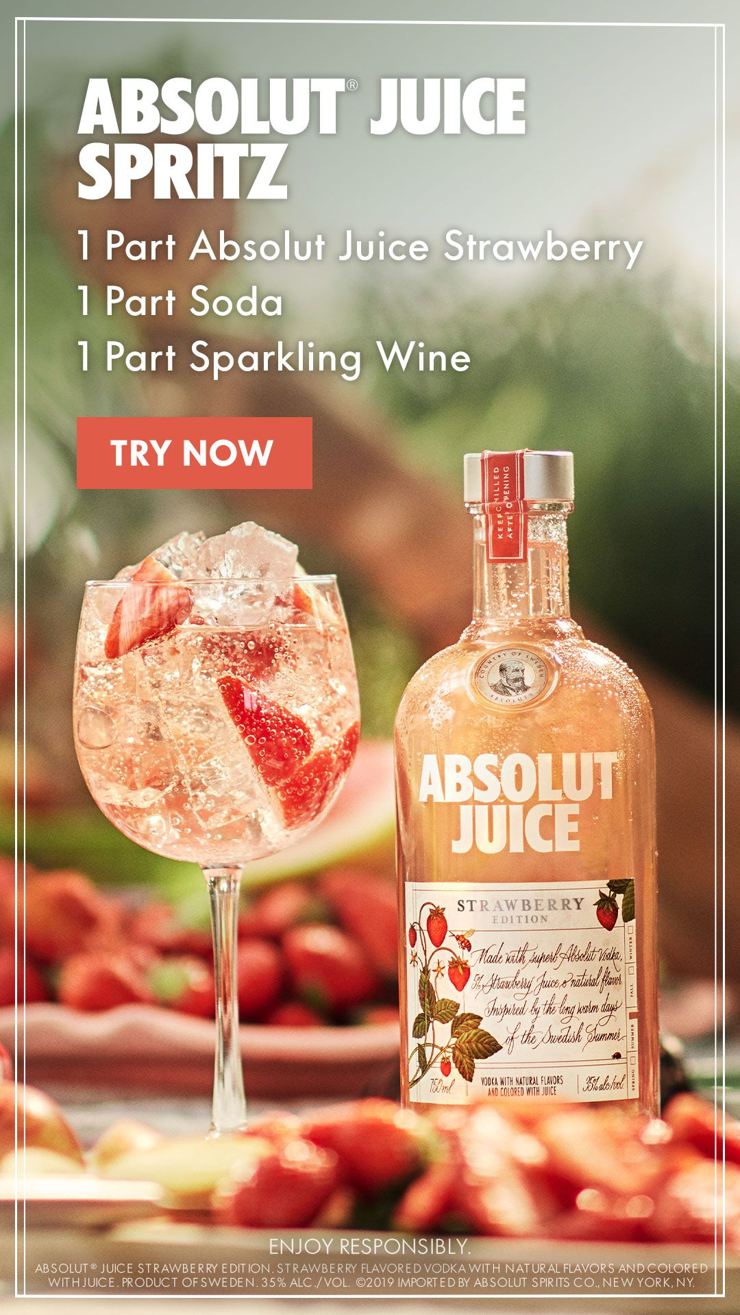 Your New Brunch Spritz Is Here Say Hello To New Absolut Juice