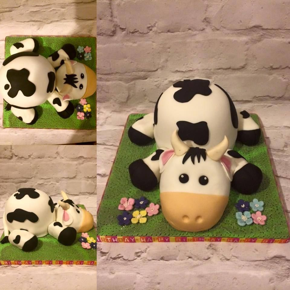 Cute Baby Bull Cake Cow Cake Childs Cakes Pinterest Cow