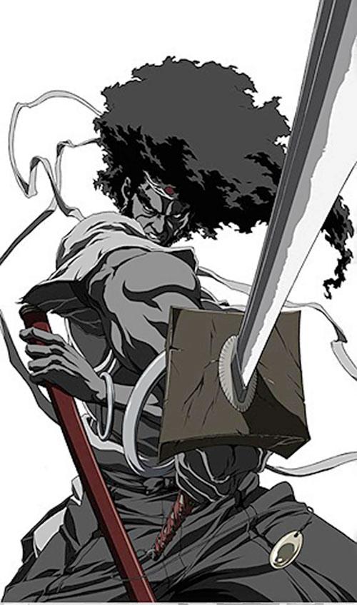 Afro Afro Samurai Anime Takashi Okazaki Character Profile Samurai Anime Afro Samurai Samurai Artwork