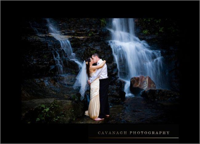 Nsw Waterfall Trashing Waterfall Waterfall Wedding Couples Photoshoot