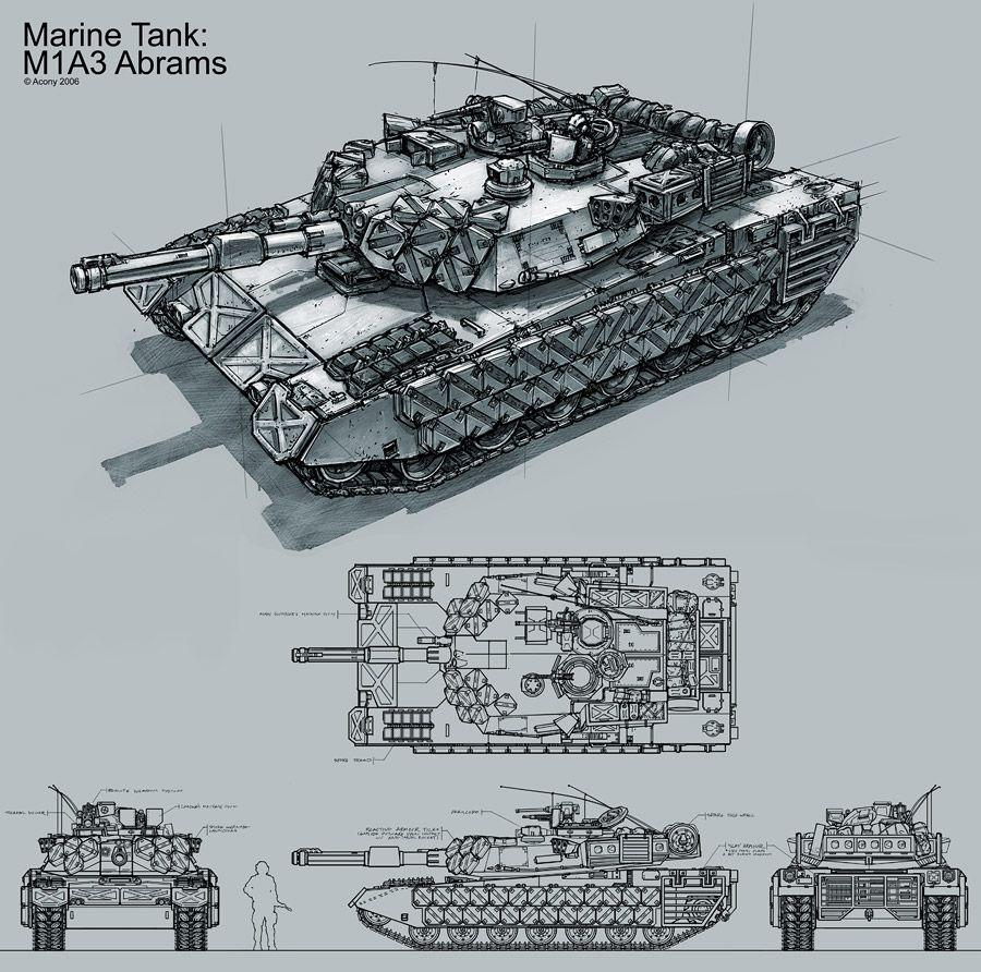 M1A3 Abrams MBT for Parabellum - Ryan Dening   Tanks: Fictional