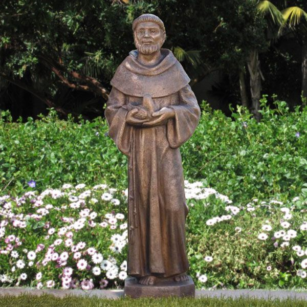 St Francis Of Assisi Garden Statue Stone Concrete