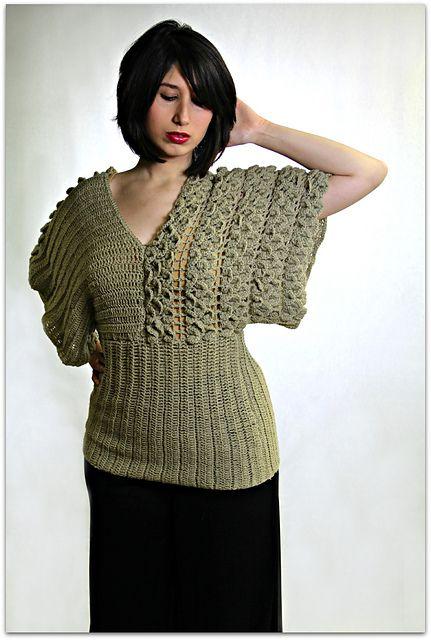 Ravelry: Crocodile Stitch Kimono Top pattern by Bonita Patterns