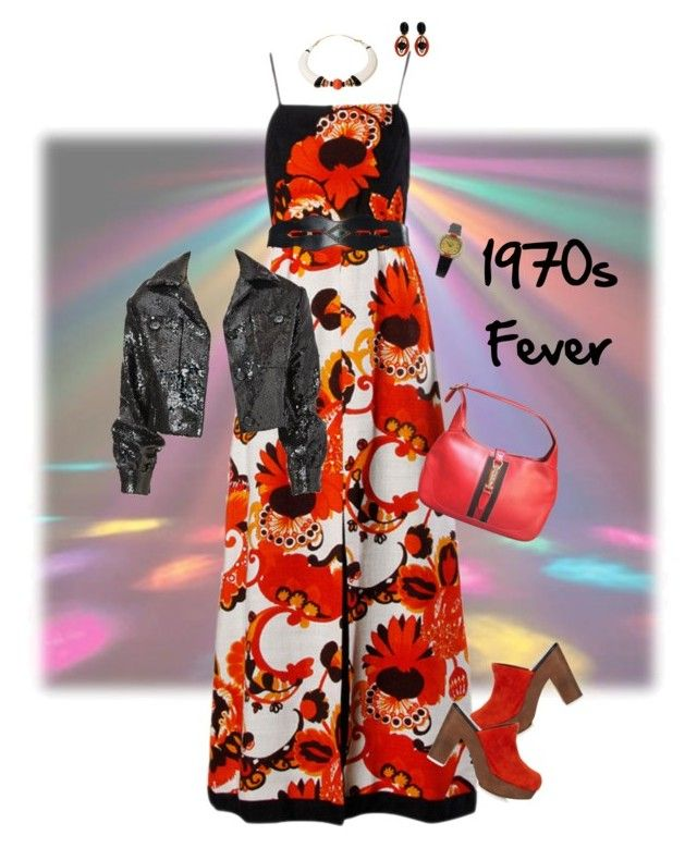 """""""1970s Fever"""" by kbarkstyle ❤ liked on Polyvore featuring art"""