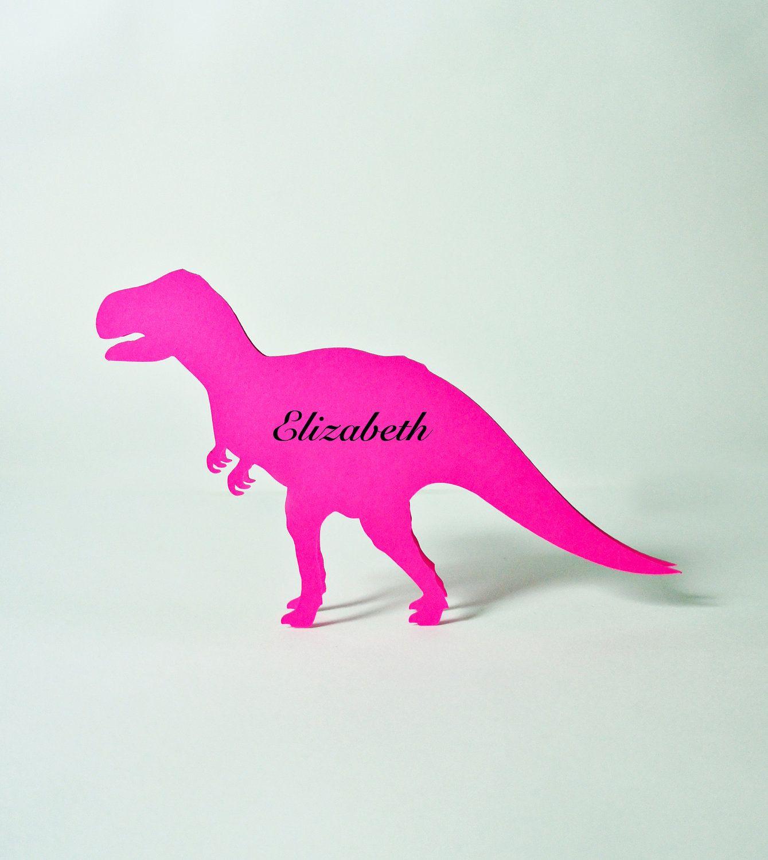 Dinosaur Place Cards set of 10 - Escort Cards,Wedding Place Cards ...