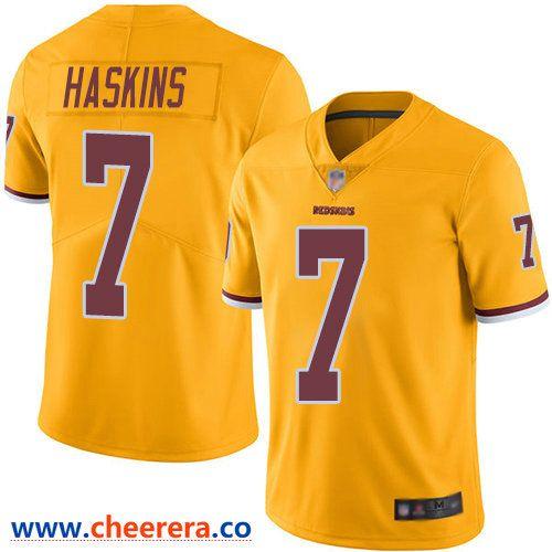 Wholesale Nike Men's Washington Redskins #7 Dwayne Haskins Gold Limited Rush  free shipping